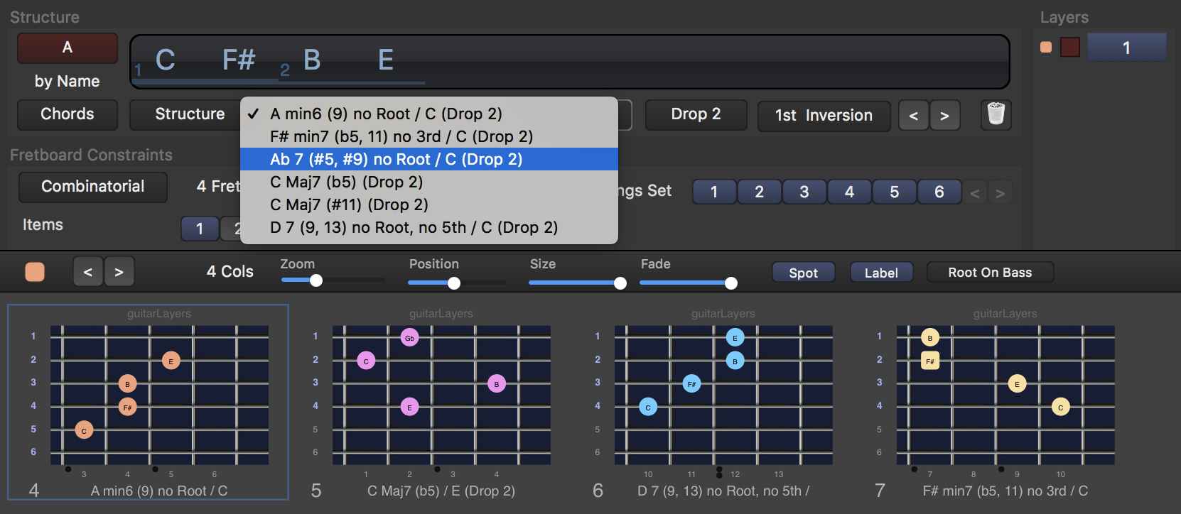 guitar learning software for scales, arpeggios and chords
