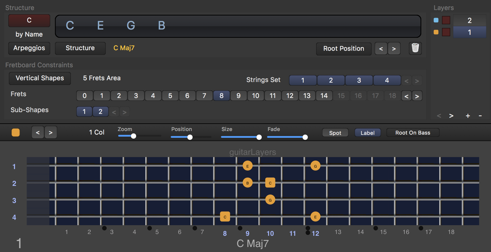 guitarLayers learning