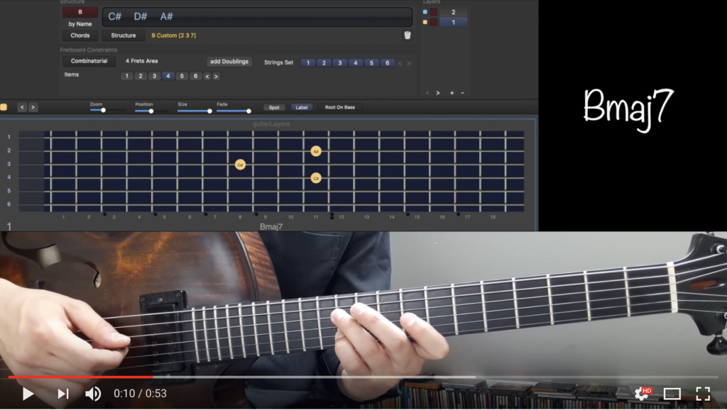 Modern three-notes chords voicings on Giant Steps | guitarlayers